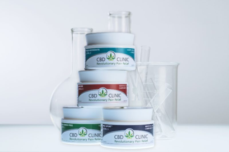 CBD CLINIC pain relief jars